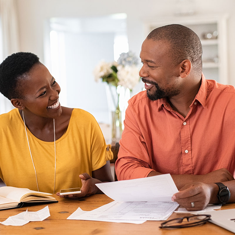 A husband and wife look at ways to pay down their debt