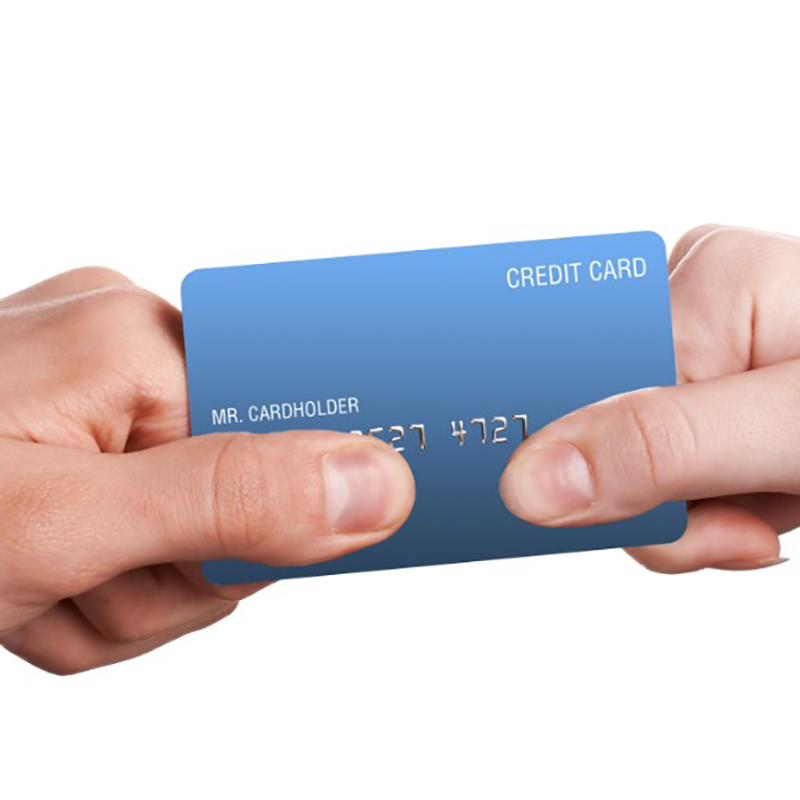spouses tugging at credit card